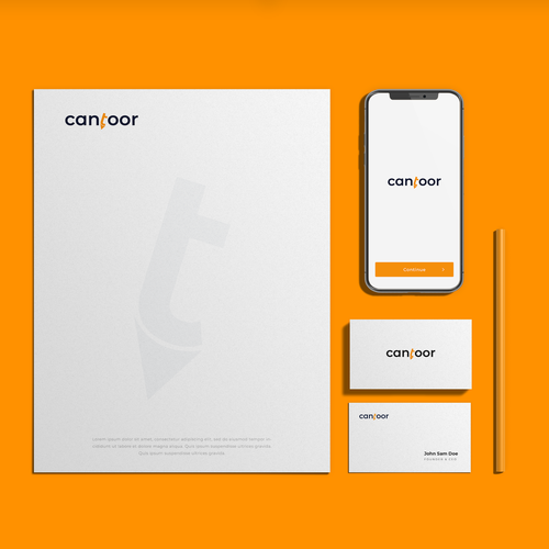 Stationery logo with the title 'Cantoor - webshop'
