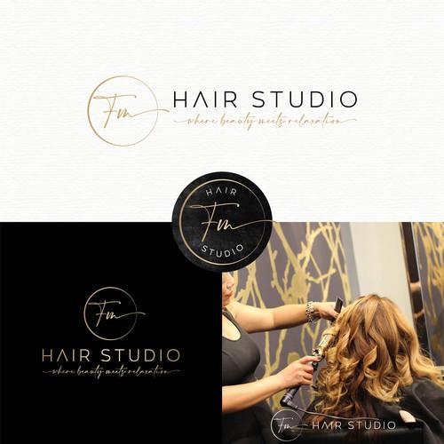 Beauty salon design with the title 'FM - Hair Studio'