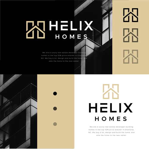 Facade logo with the title 'Helix Homes'