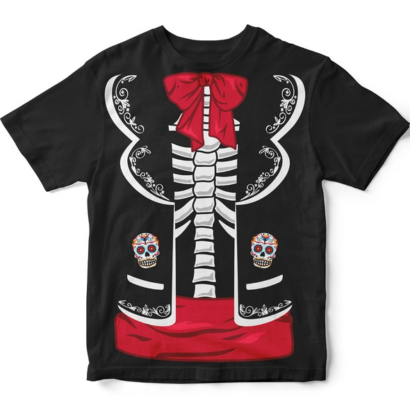 Dia de los Muertos design with the title 'The winning t-shirt design for a project inspired by the Mexican holiday'