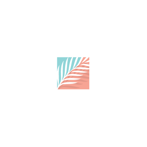 Palm tree logo with the title 'Luxury Resort Logo'