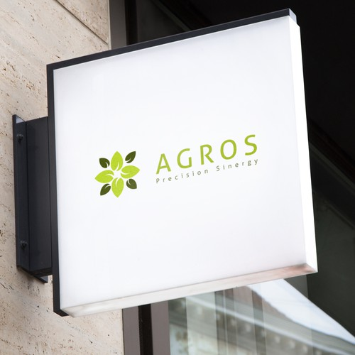 Agricultural logo with the title 'AGROS Precision Sinergy Logo Design'