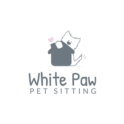 Care brand with the title 'Dog sitting Logo'