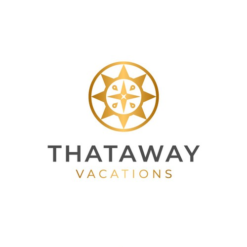 Discovery logo with the title 'Luxury Travel logo concept for Thataway Vacation'