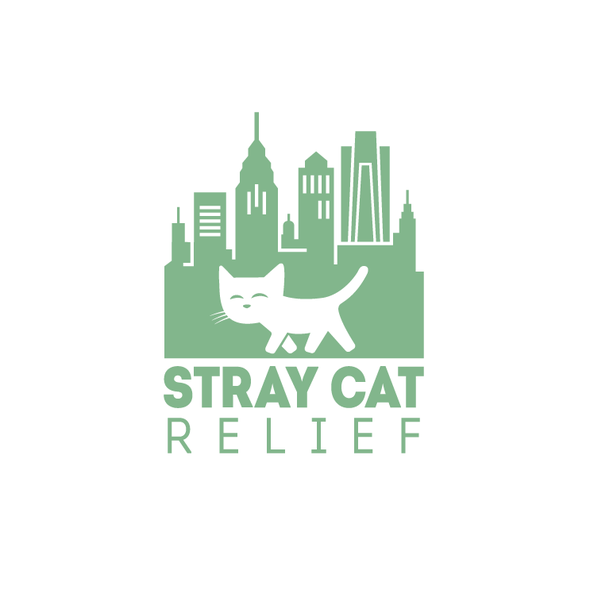 Philadelphia logo with the title 'Stray Cat Relief'
