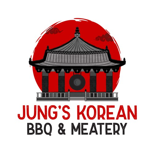 Bold logo with the title 'Bold logo concept for Jung's Korean BBQ & Meatery'