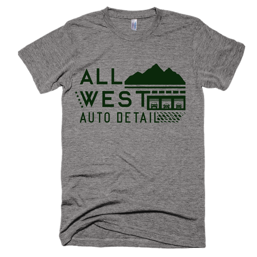 Masculine t-shirt with the title 'Auto Detailing Shop T-Shirt Design'