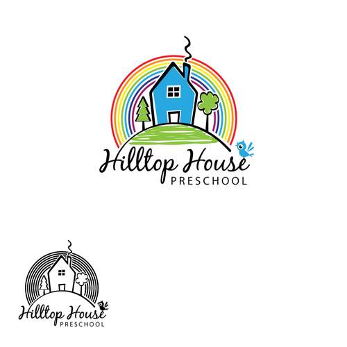 Preschool logo with the title 'Help Hilltop House Preschool with a new logo'