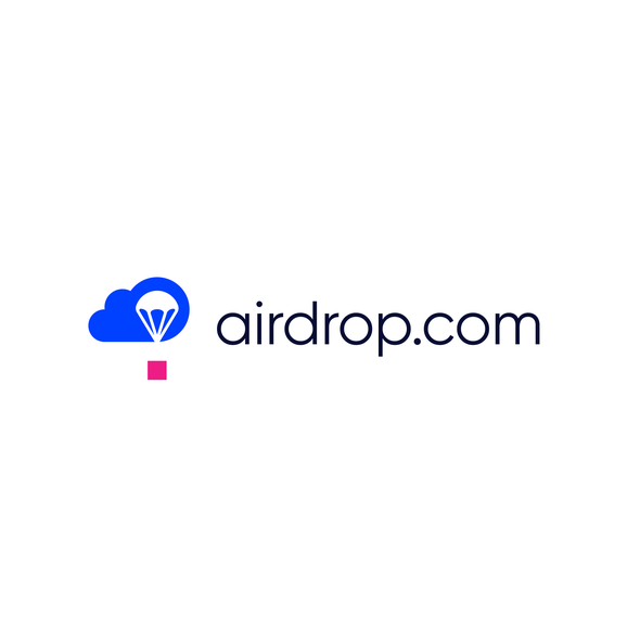 Flat logo with the title 'AirDrop'