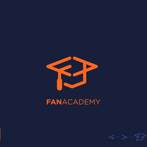 Letter A logo with the title 'Fan Academy Logo'