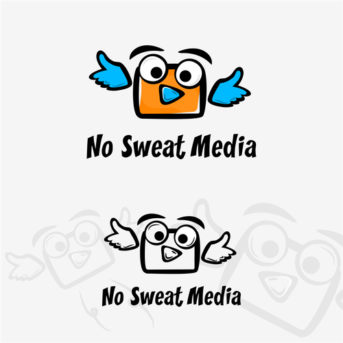 Multimedia design with the title 'No sweat media'