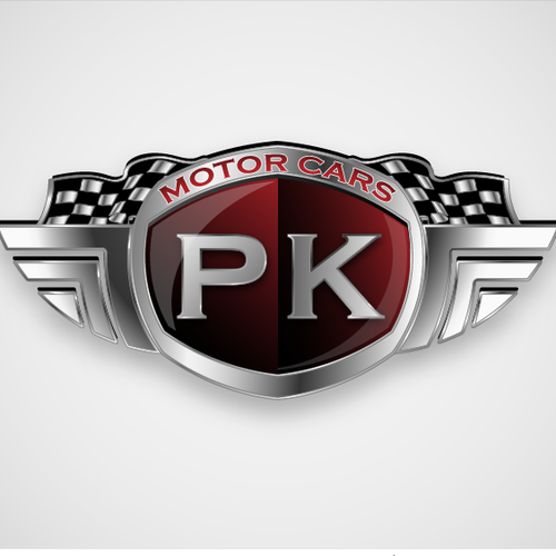 Racing team logo with the title 'Create the next logo for PK Motor Cars'