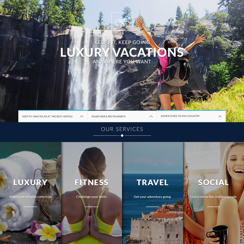 Winning website with the title 'Luxry vacations'