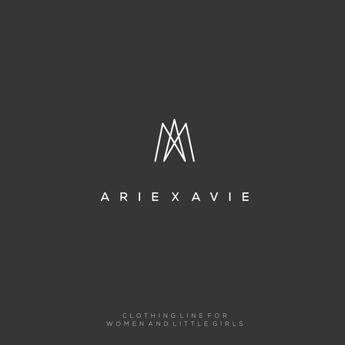"Awesome brand with the title 'Logo concept for ""ARIE X AVIE""'"