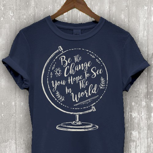 Lettering t-shirt with the title 'Quote Illustration for a NGO inspirational T-shirt'