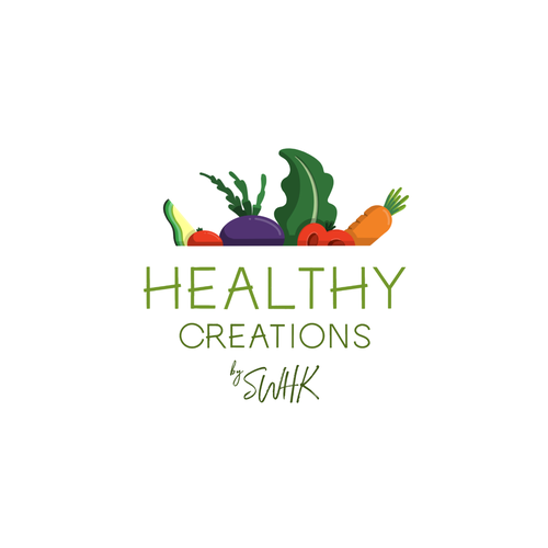 Delicious logo with the title 'Tasty logo concept for health food brand. '