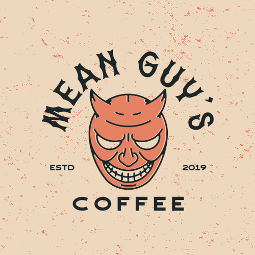 Evil design with the title 'Mean Guy retro logo'