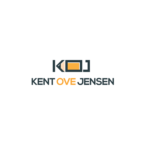 Personal logo with the title 'Logo for a personal portfolio designer named Kent Ove Jensen'