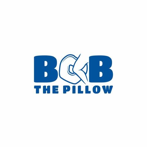 Pillow logo with the title 'Leg sleeping pillow logo'