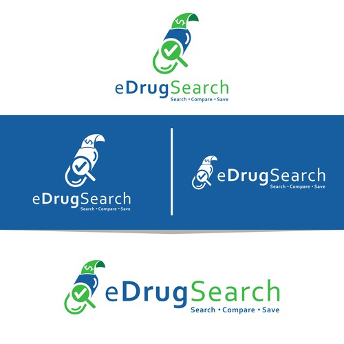 Drugs logo with the title 'eDrugSearch'