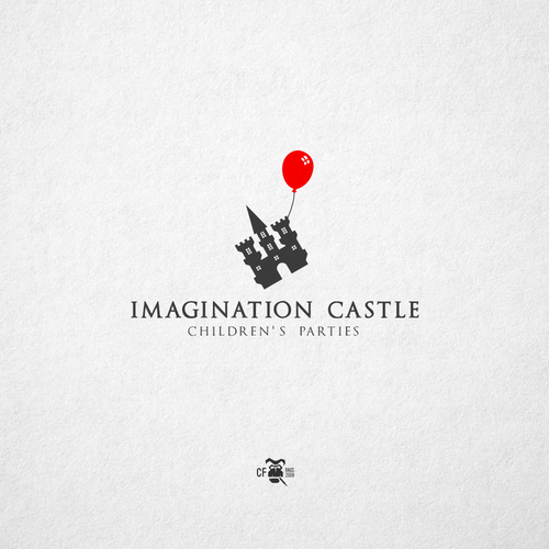 Balloon design with the title 'Imagination Castle'
