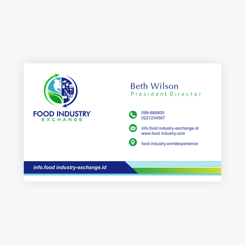 Food service logo with the title 'FOOD INDUSTRY EXCHANGE LOGO'