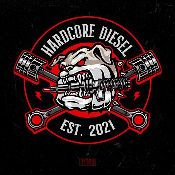 Diesel design with the title 'Hardcore Diesel'