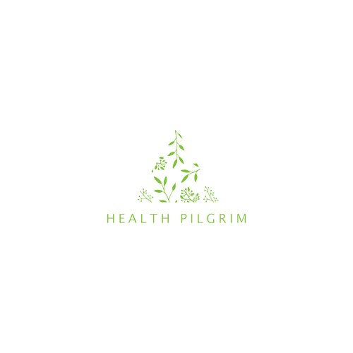 Triangle design with the title 'Logo design for Health Pilgrim'