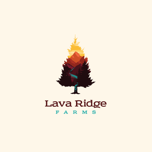 High design with the title 'Vector landscape logo design'