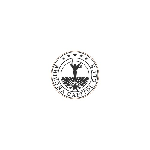 Arizona logo with the title 'Professional and clean Logo for Arizona Capitol Club'