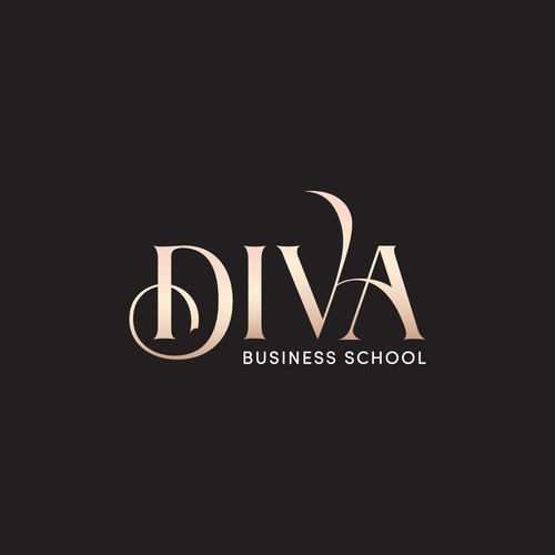 Blush design with the title 'luxury brand logo for powerful and feminine women entrepreneurs.'