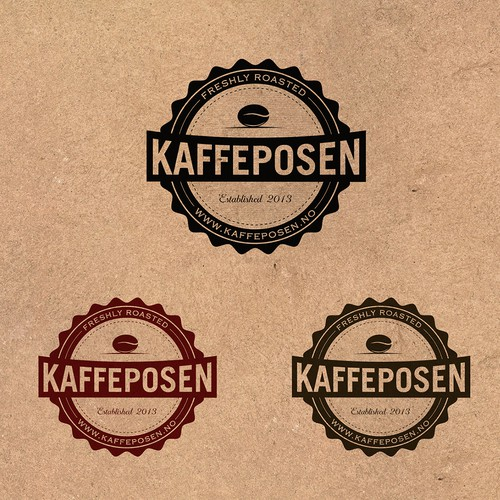 Coffee bean logo with the title 'Logo design for Kaffeposen'