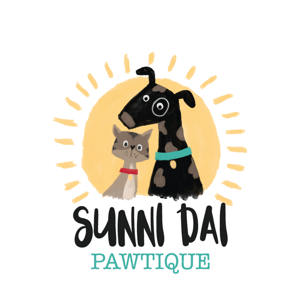 Quirky design with the title 'Painterly Dog & Cat Logo'