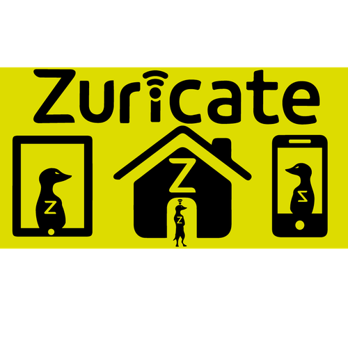 Security artwork with the title 'Zuricate Surveillance Google Play Logo'