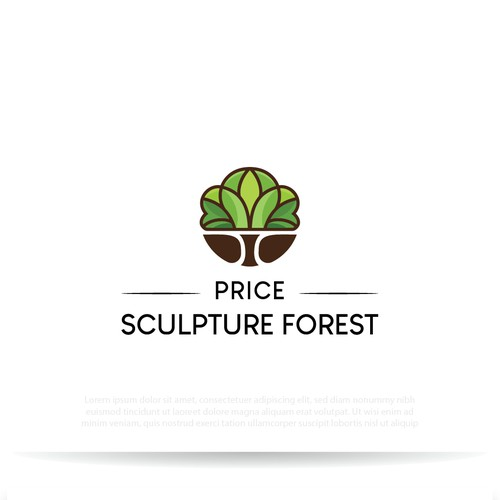 Nature logo with the title 'Eye-Catching logo for Sculpture Art Park'