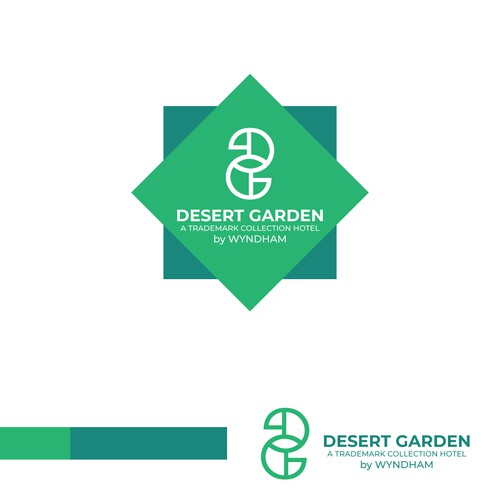 Ambigram logo with the title 'Ambigram logo concept for desert garden'