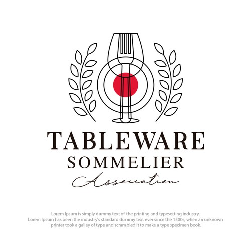 Wine glass logo with the title 'Restaurant elegant logo'