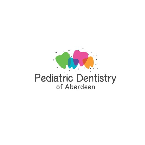 Full-color design with the title 'Pediatric dentistry of aberdeen'