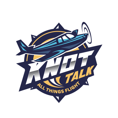 Airline and flight logo with the title 'Knot Flight'
