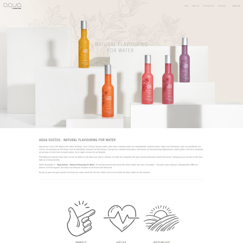 Norwegian design with the title 'Home Page Adjustments For Beverage Company in Norway'