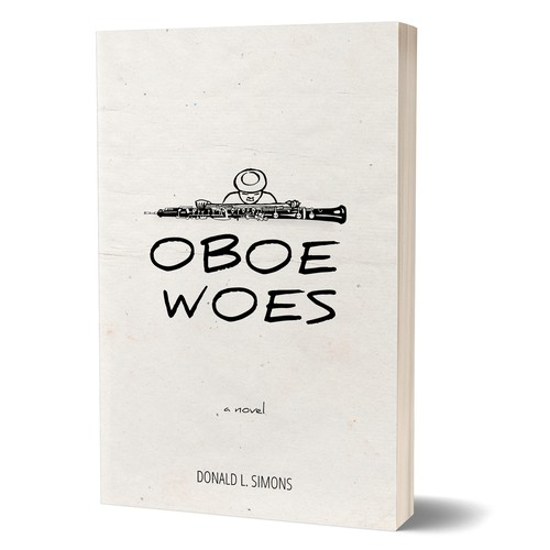 Minimal book cover with the title 'Oboe Woes'