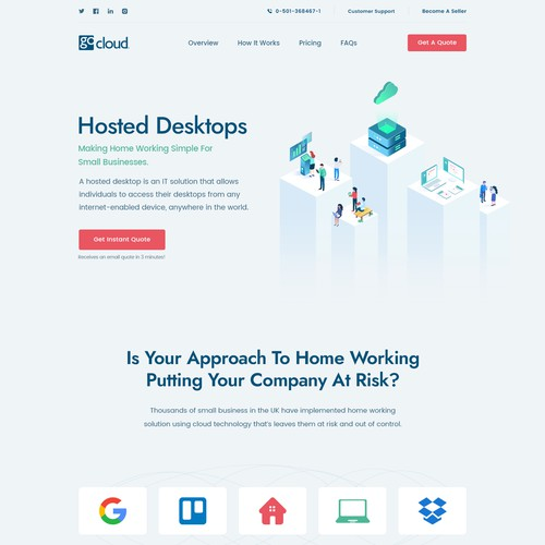 SaaS website with the title 'GoCloud Website and Illustration'