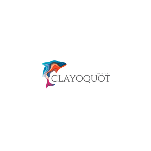 Salmon design with the title 'Clayoquot'