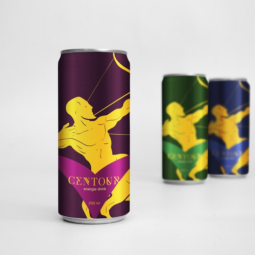 Creative label with the title 'packaging design for energy drink'
