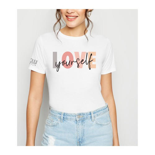 Cool t-shirt with the title 'Feminine self- esteem design'