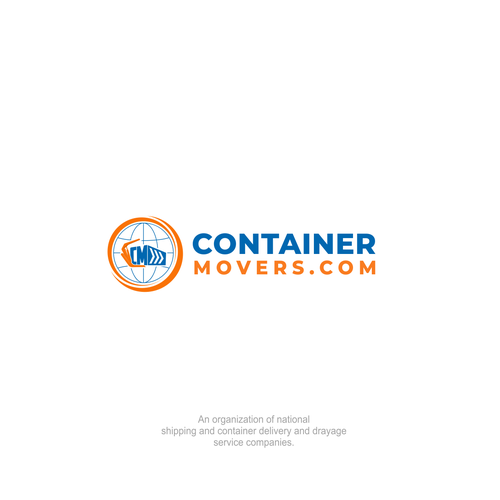 Lifting design with the title 'Container Movers Logo'