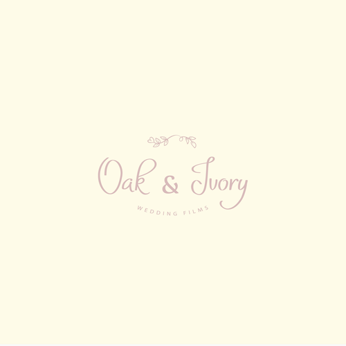 Wedding photography logo with the title 'Oak and Ivory logo design'