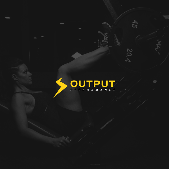 Striking logo with the title 'Logo for OUTPUT '