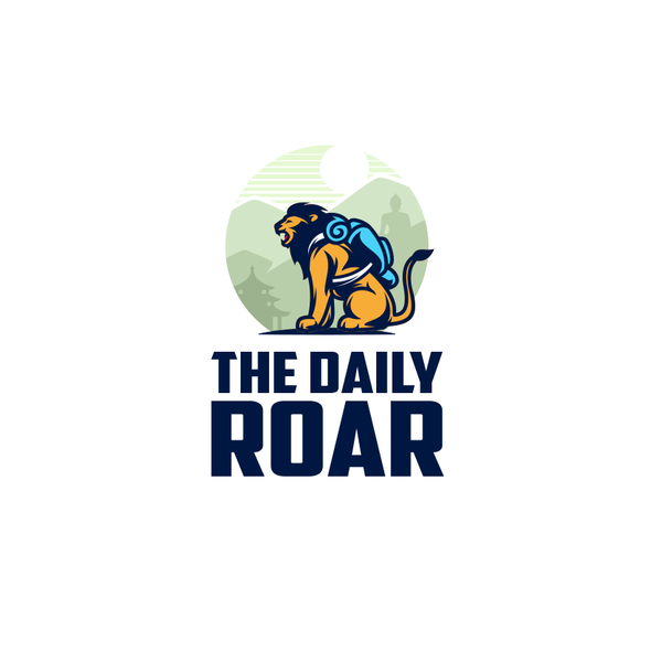 Backpack logo with the title 'The Daily Roar'
