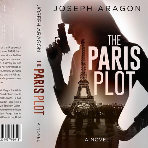 Adventure design with the title 'The Paris plot - Adventure thriller'